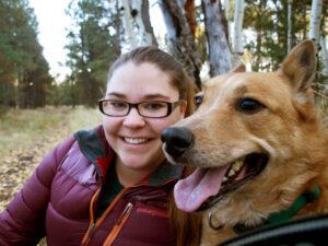 Helena Murray and Dog