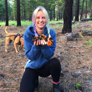 Delaney came to Flagstaff from San Diego, California. She earned her Bachelors of Science in Fisheries and Wildlife Sciences through Oregon State University. She has a love for wildlife, plants, and everything nature-related! When she is not at work, she is most likely out adventuring with her dog!