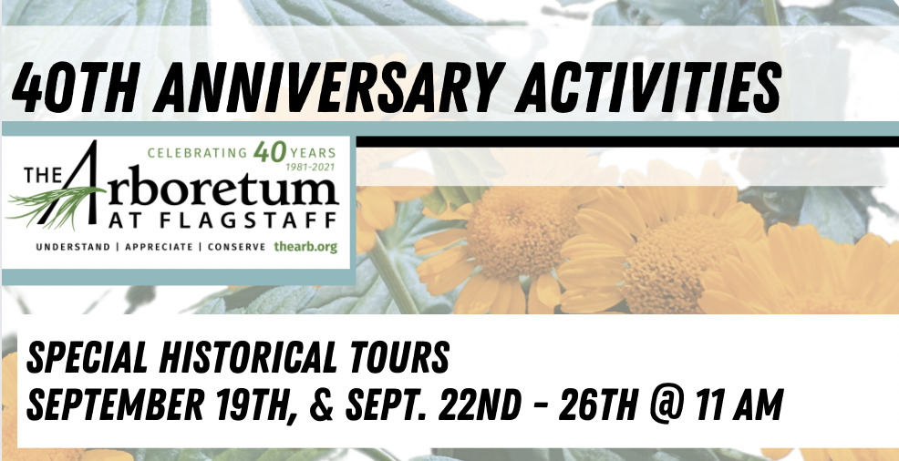 Special Historical Tours: Come check out a Special Historic Tour including stories from Frances McAllister's Journals at the 40th Anniversary Celebration on September 19th, or at 11 am every day from September 22nd - September 26th